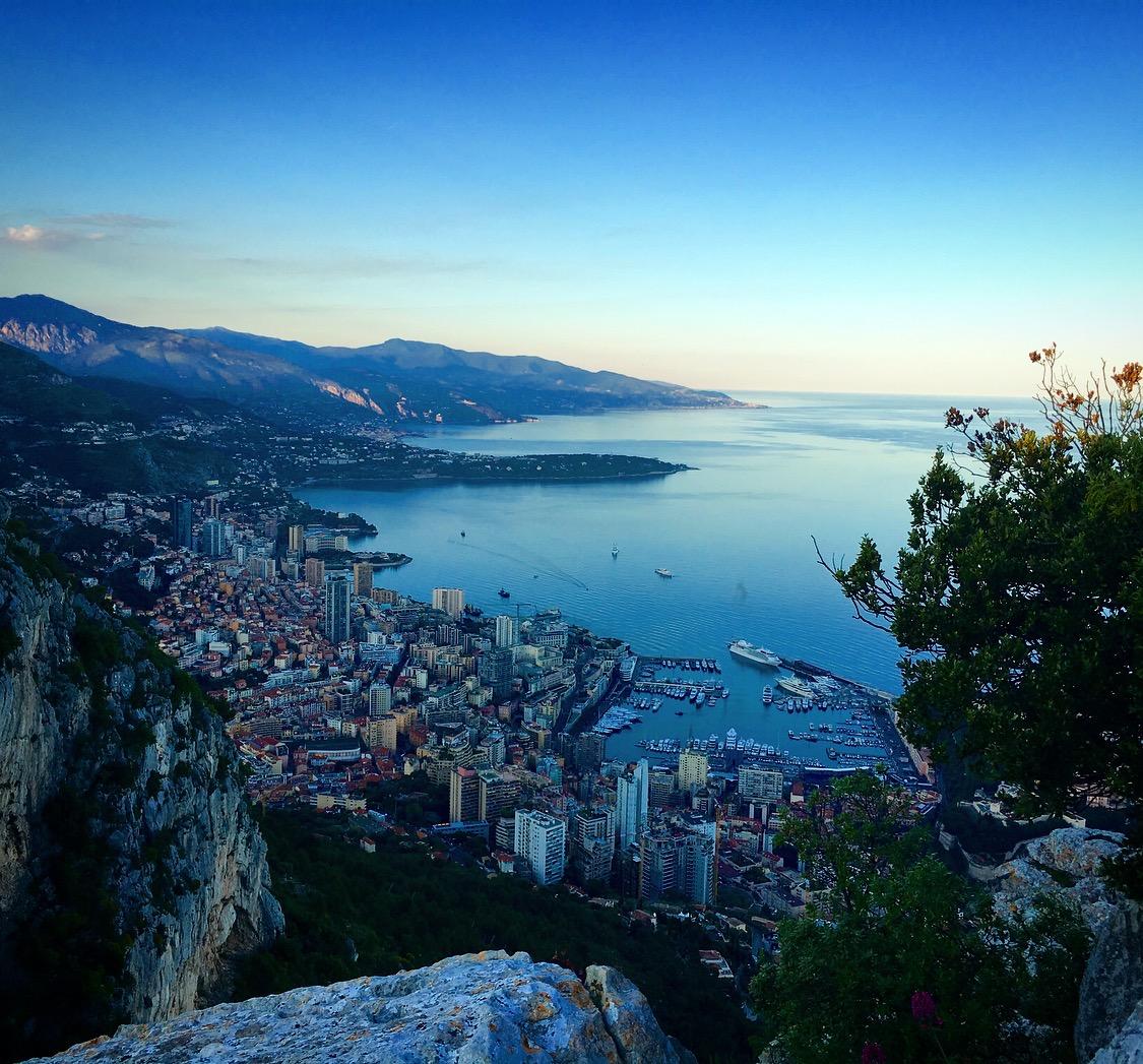 View of Monaco sunrise on a Monaco yacht charter
