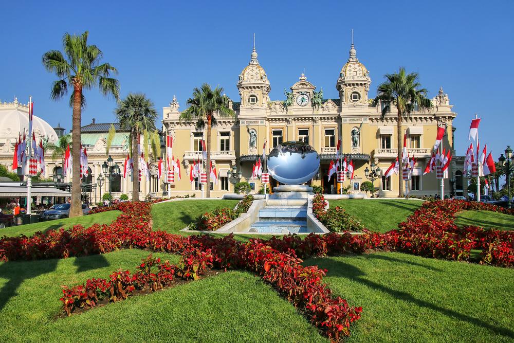 Monte Carlo casino on Monaco yacht charter