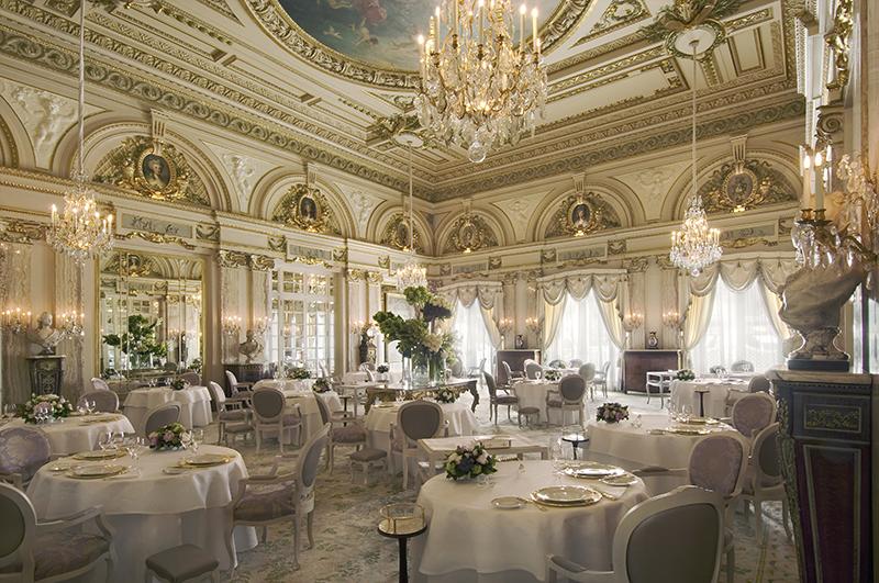 A restaurant in the Hotel de Paris on a Monaco yacht charter