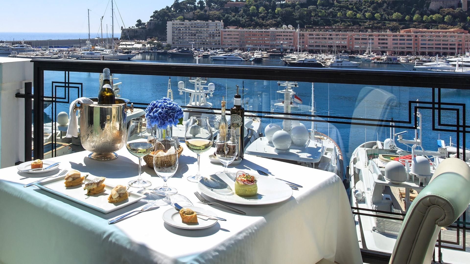 La Marée restaurant on Monaco yacht charter