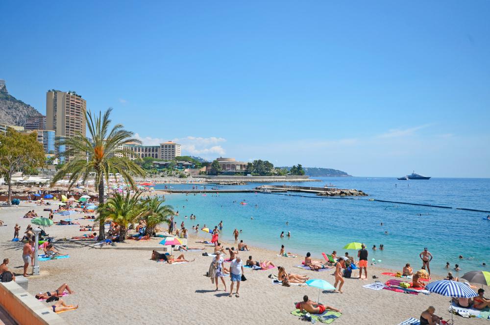 Monaco yacht charter Larvotto beach