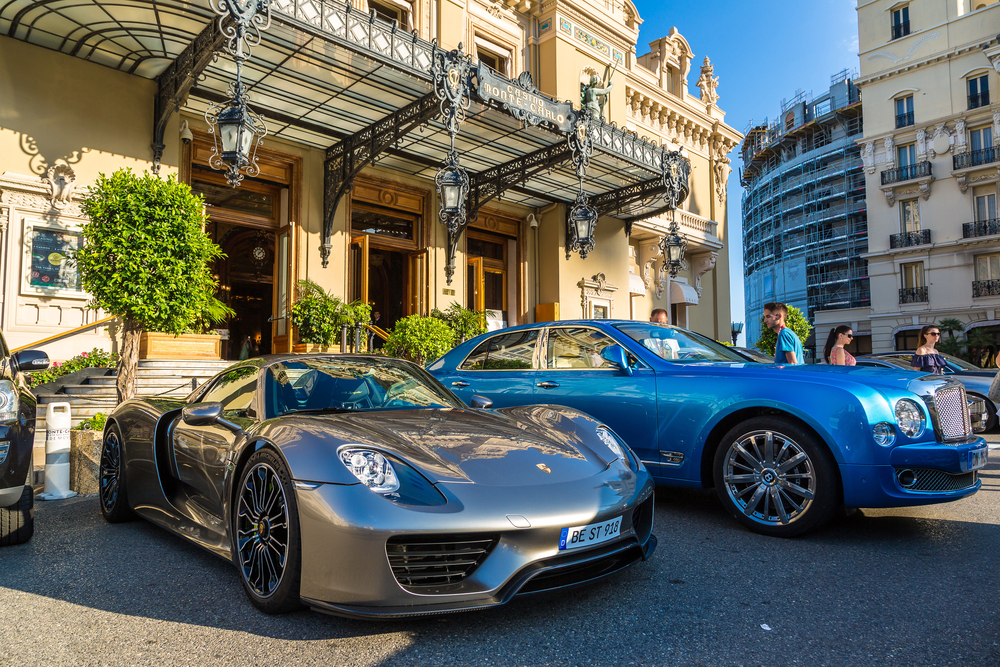 Luxurious sports car, Monaco yacht charter