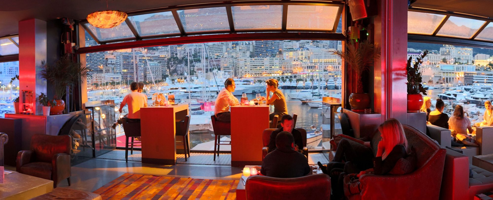Fine dining at a restaurant on Monaco yacht charter