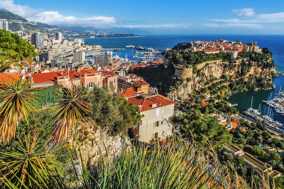 View of Monaco on a South of France yacht charter