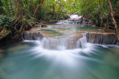 Rainforest waterfall on Thailand yacht charter