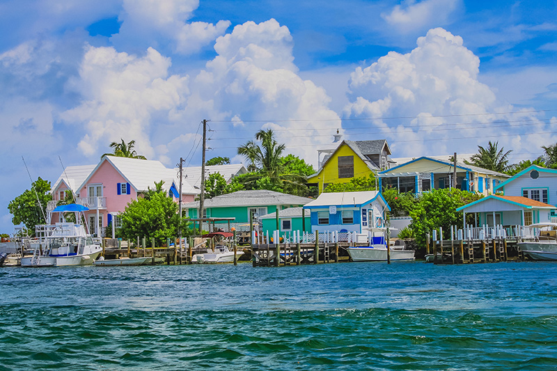 Elbow Cay architecture on yacht charter itinerary Abacos