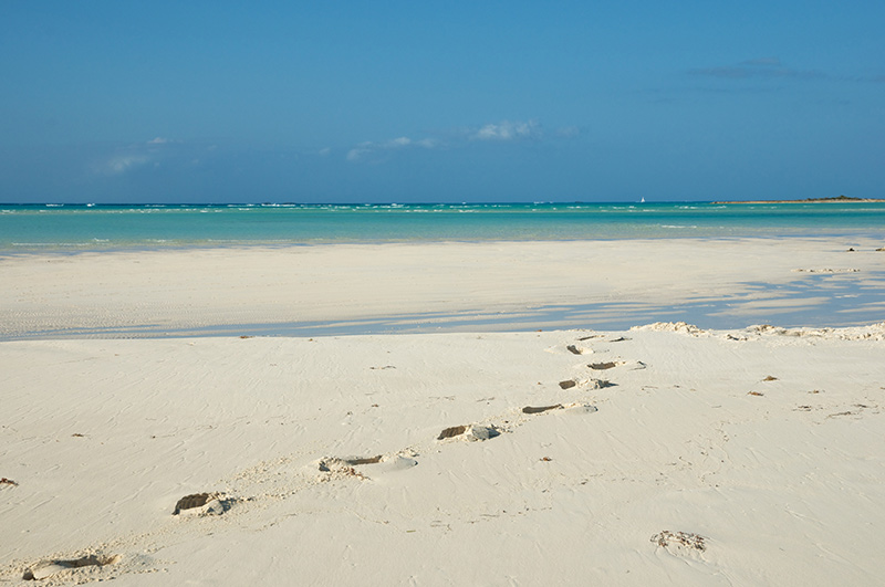 Beach on yacht charter itinerary Abacos