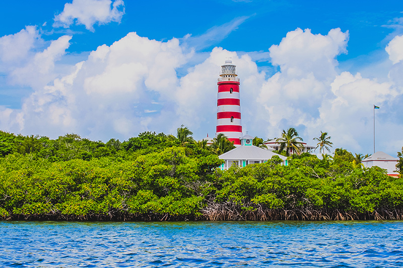 Elbow Cay lighthouse on yacht charter itinerary Abacos