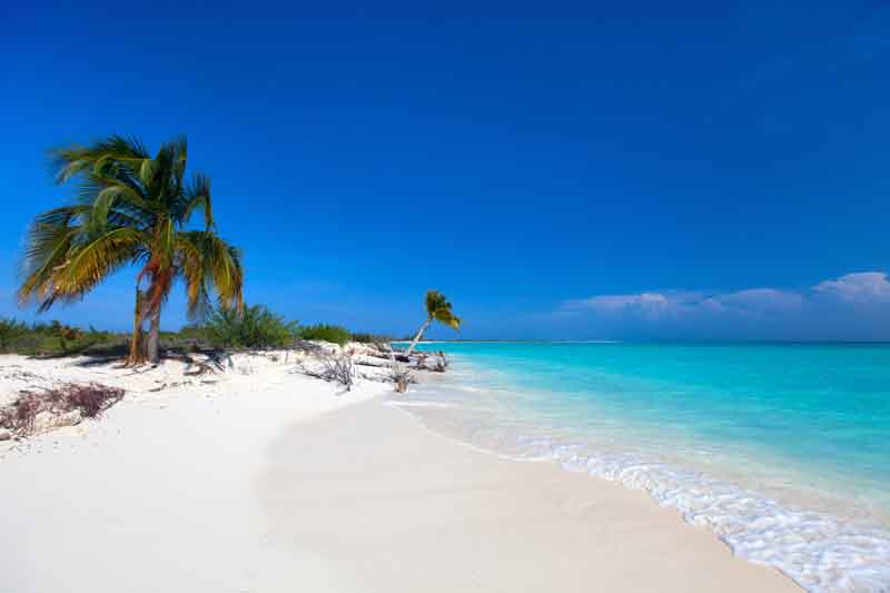 White sand beach in Cayo Largo on Cuba yacht charter itinerary