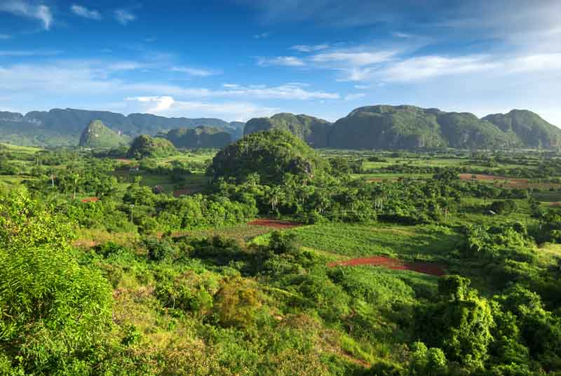Rural landscape on a yacht charter itinerary Cuba