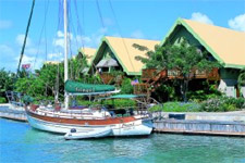 Peter Island architecture on a yacht charter itinerary US Virgin Islands