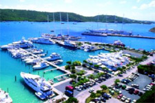 Harbor of St Thomas on a yacht charter itinerary US Virgin Islands