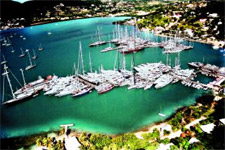 Harbour on a yacht charter itinerary Antigua