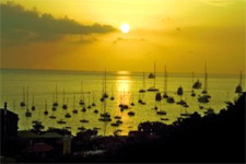 Yachts and boats on a yacht charter itinerary Antigua