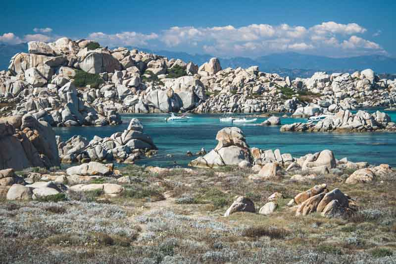 Archipelago surrounded by rocks on a yacht charter itinerary Corsica