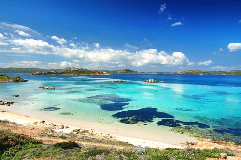 Turquoise sea on a yacht charter itinerary in Corsica