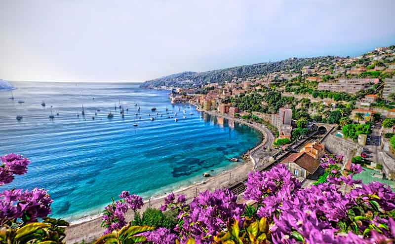 Coast of Monaco on a yacht charter itinerary Cote d'Azur