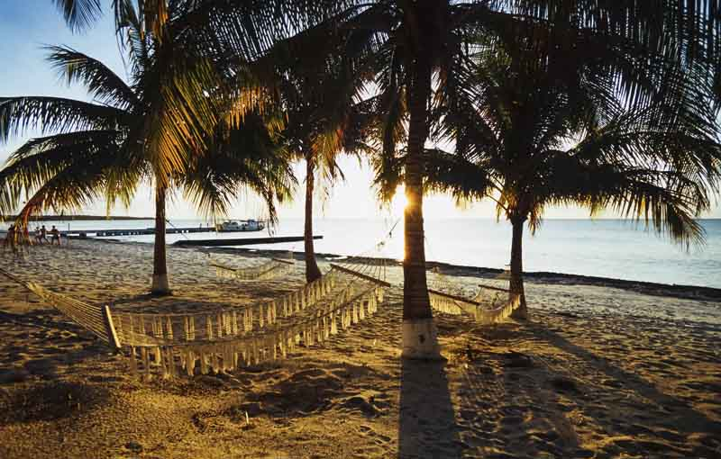 Beach on Maria La Gorda on a yacht charter itinerary Cuba