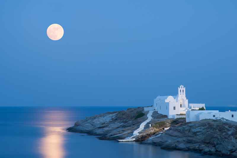 Church in Sifnos on a yacht charter itinerary Cyclades