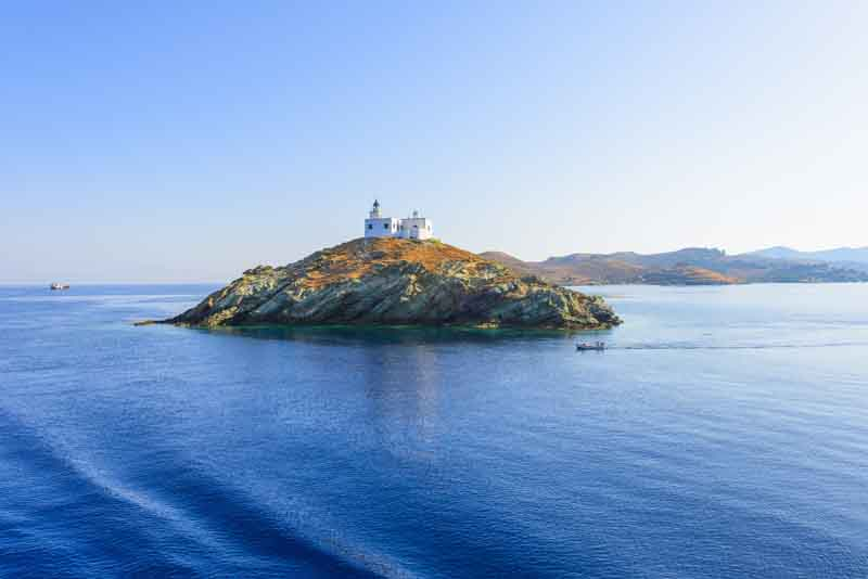 Tzia island on a yacht charter itinerary Cyclades
