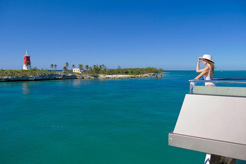 Paradise Island on yacht charter itinerary Exumas