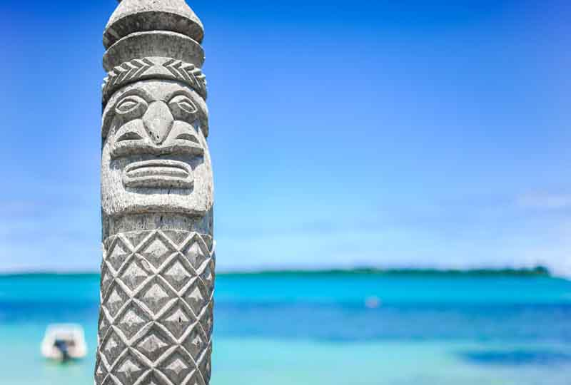 Traditional totem on a Fiji yacht charter itinerary