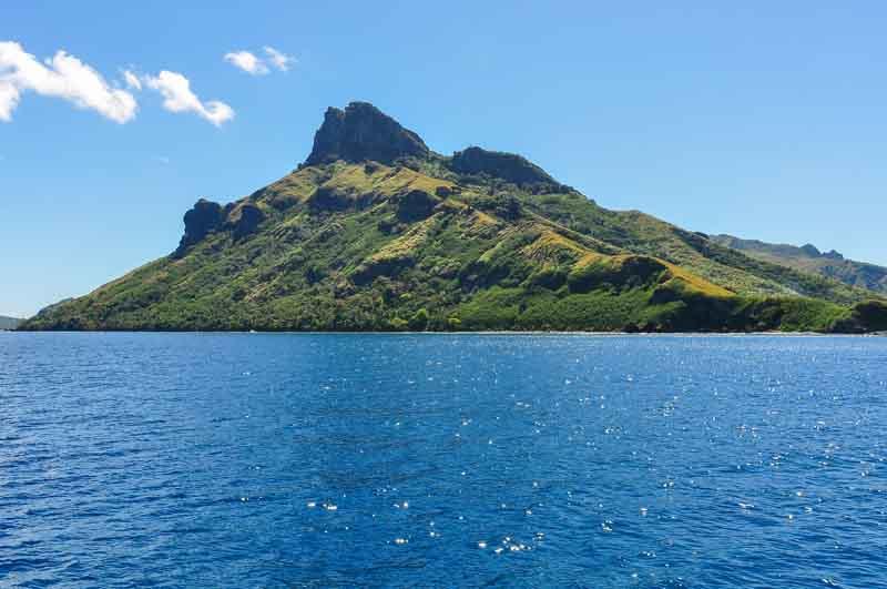Waya Island peak on yacht charter itinerary Fiji