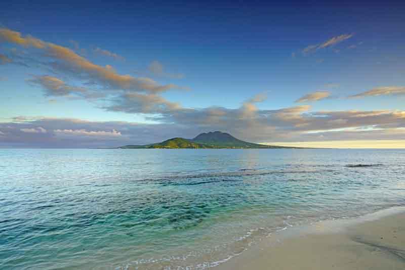 Antigua coast on a yacht charter itinerary Leeward Islands
