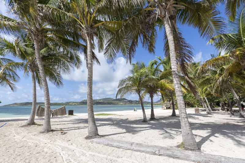 Saint Marten beach on yacht charter itinerary Leeward Islands