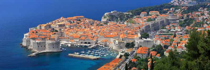 Dubrovnik on a yacht charter itinerary Montenegro