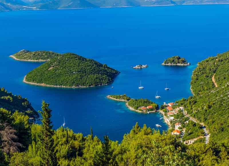 Bay in Hvar on a yacht charter itinerary Montenegro