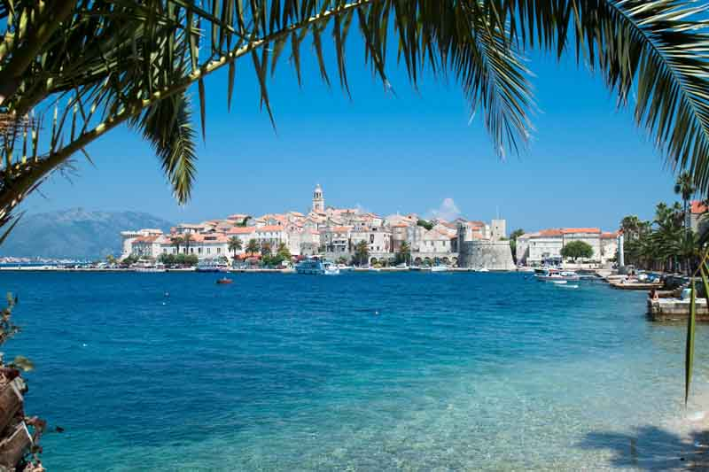Clear sea in Korcula on a yacht charter itinerary Montenegro