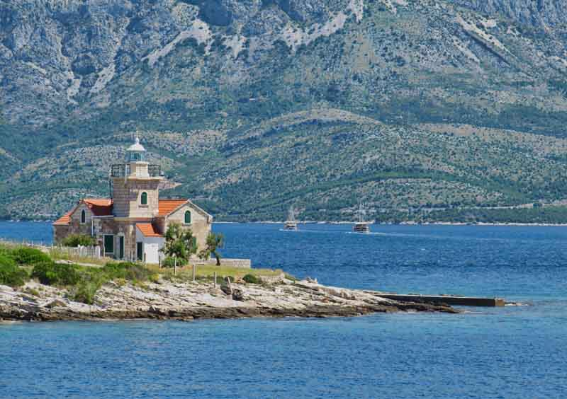 Lighthouse on a yacht charter itinerary Montenegro
