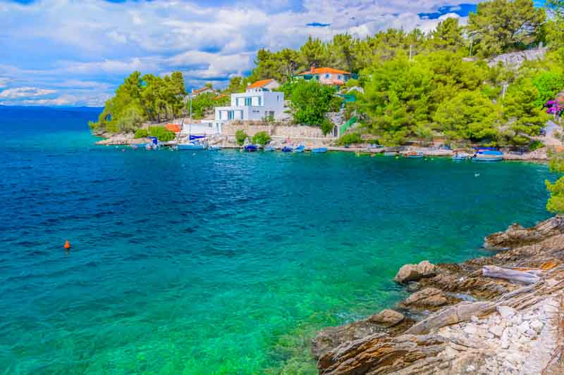 Coast of Solta on a Montenegro yacht charter itinerary