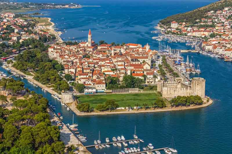 View of Trogir on a yacht charter itinerary Montenegro