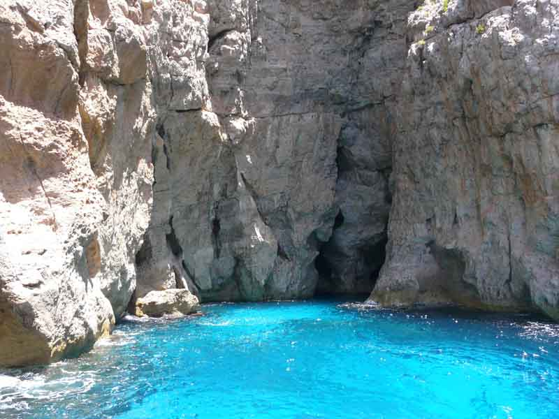 Coastal cliffs on a yacht charter itinerary Sicily