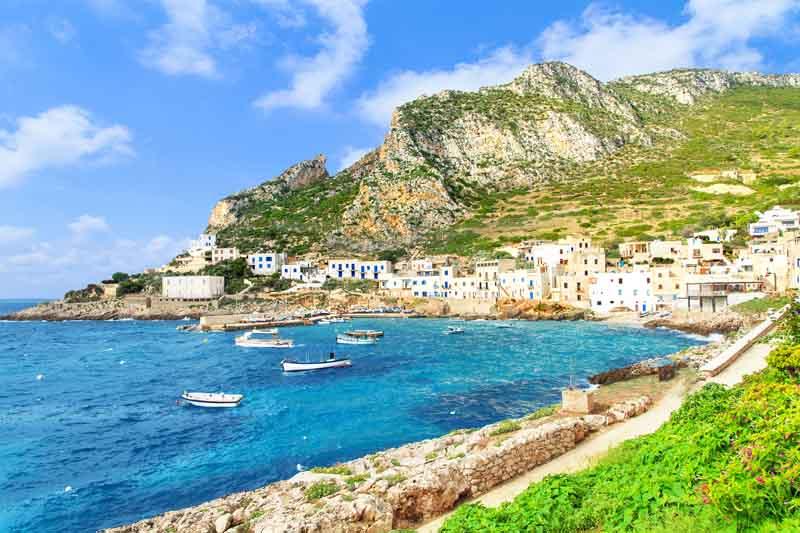 Marettimo coast on a yacht charter itinerary Sicily
