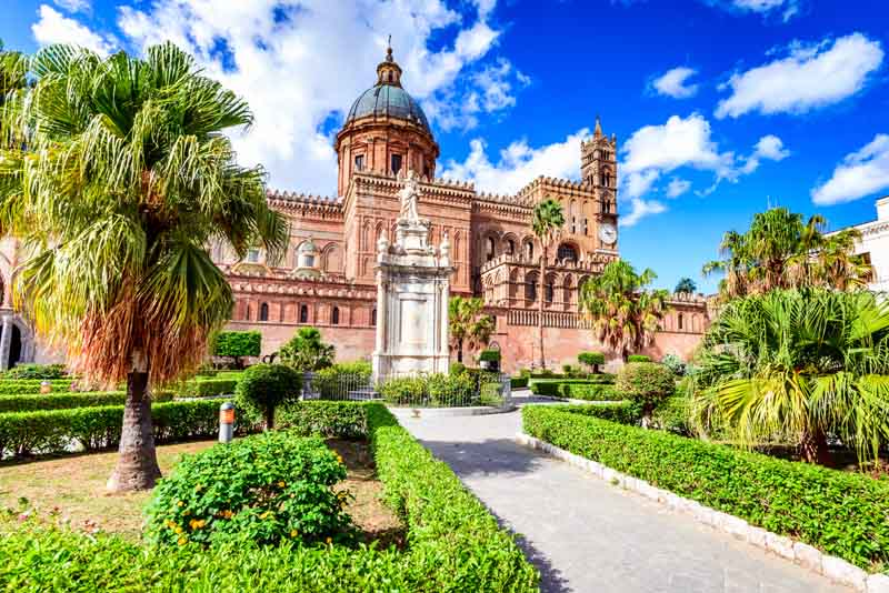 Palermo on a yacht charter itinerary Sicily