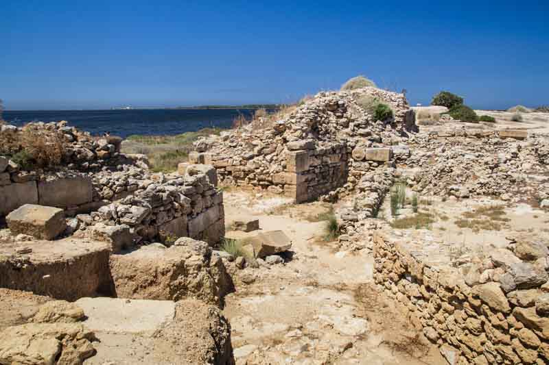 Antique ruins on a yacht charter itinerary yacht charter