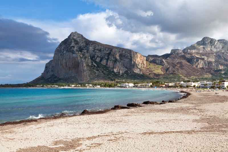 Ustica beach on a yacht charter itinerary Sicily
