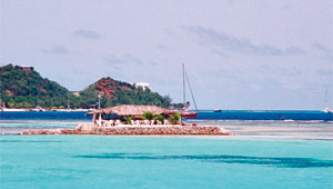 Union Island on a yacht charter itinerary St Lucia
