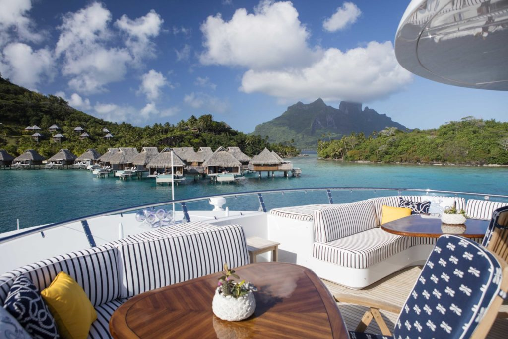 Deck on yacht charter itinerary in Tahiti