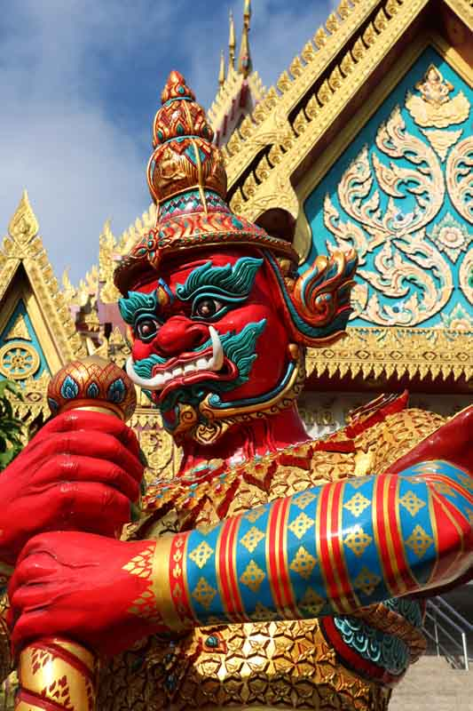 Temple statue on a yacht charter itinerary Thailand